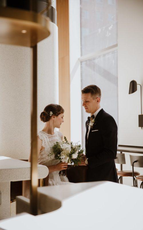 Katrine + Matt - Crew Café Wedding