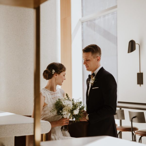 Katrine + Matt - Crew Café Wedding